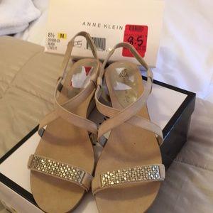 Anne Klein Wedge Sandals, size 8.5